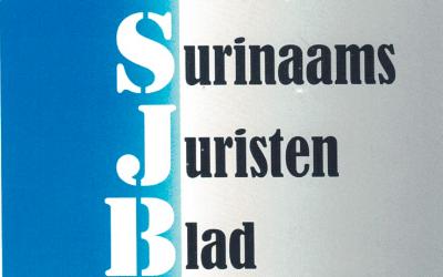 Surinaams Juristen Blad editie nr. 2, oktober 2020