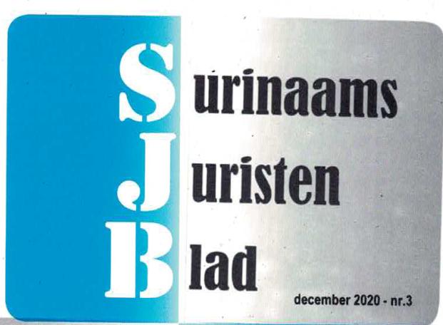Surinaams Juristen Blad editie nr. 3, december 2020